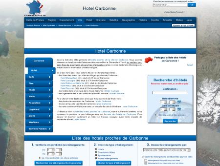 HOTEL CARBONNE : Réservation hôtels...
