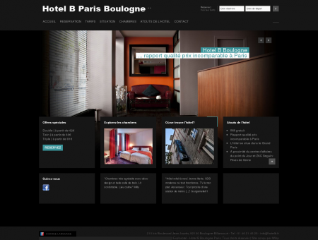 Hotel B Paris Boulogne **, Site Officiel -...