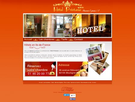 Hôtel Printania : Hôtel à Boulogne Billancourt ...