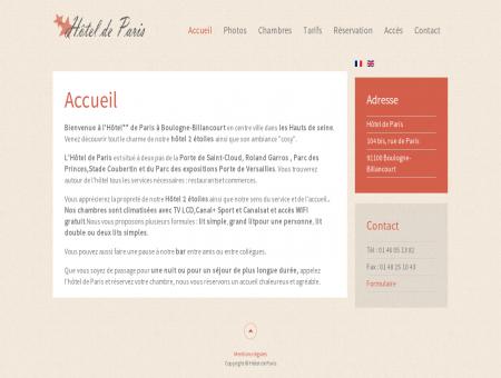 Hôtel de Paris à Boulogne Billancourt - Haut...