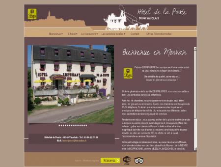 Hotel de la Poste de Vauclaix en morvan (Nievre)