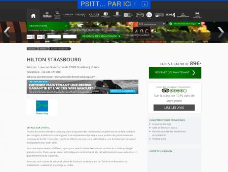 Hôtel Hilton Strasbourg - -35% avec les soldes Hilton.