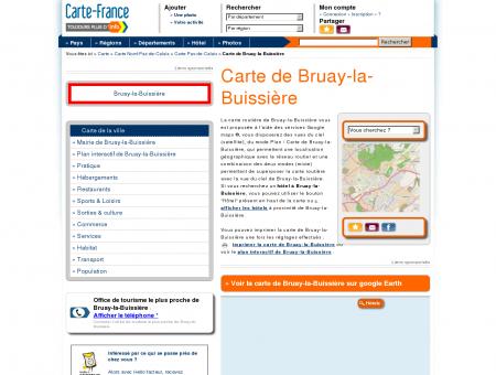 Carte et plan de Bruay-la-Buissière 62700 :...