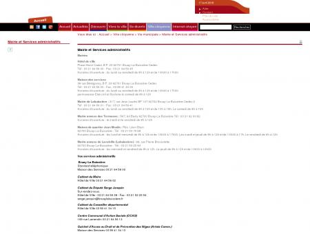 Mairie et Services administratifs | Bruay-La...