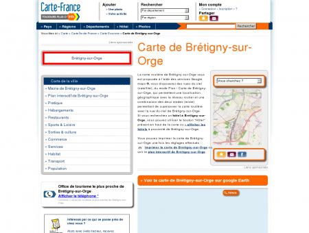 Carte et plan de Brétigny-sur-Orge 91220 :...