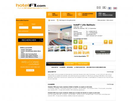 Hôtel pas cher hotelF1 Lille Bailleul : hotel...