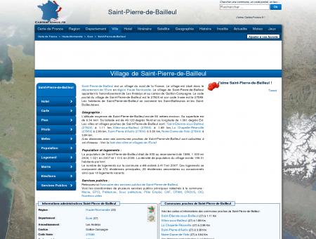 SAINT-PIERRE-DE-BAILLEUL - Carte plan hotel...
