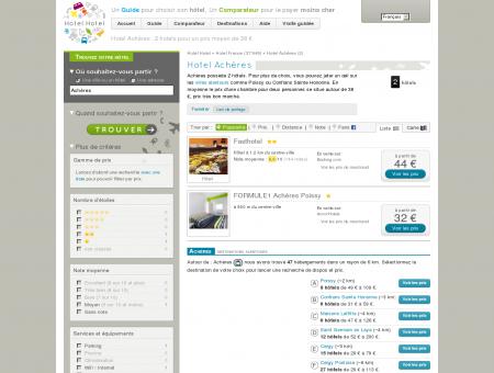 Hotel Achères : 2 hotels pour un prix moyen...