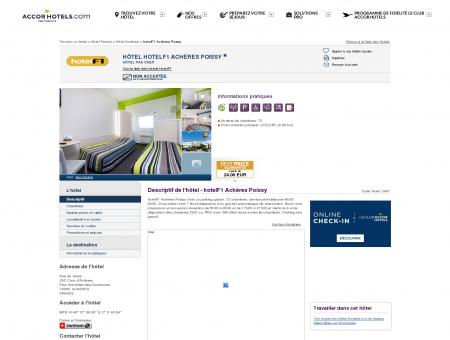 Hôtel hotelF1 Achères Poissy - Accor Hotels -...