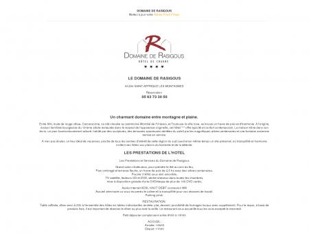 Domaine de RASIGOUS, Hôtel de charme 4 ****