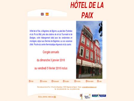 Hôtel Restaurant de la Paix à Bagnères de...