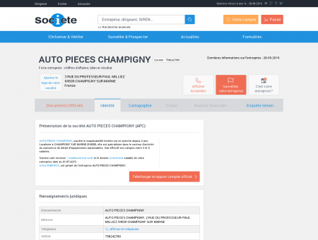 AUTO PIECES CHAMPIGNY (CHAMPIGNY SUR...