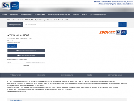 A.T.P.S., distributeur à Chaumont - Réseau...