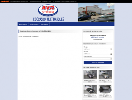 AVR AUTOMOBILE - VOITURE OCCASION...