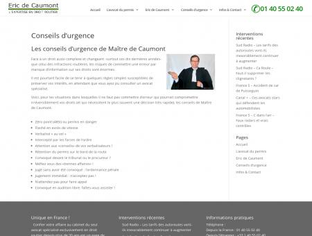 - Maître Eric de Caumont