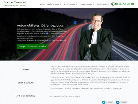 Maître de Caumont - L'avocat du permis de...