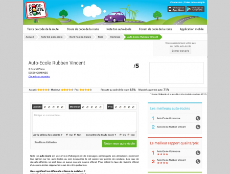 Auto-Ecole Rubben Vincent (COMINES 59560)...