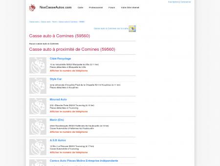 Casse auto Comines - 59560 - Avis casses...