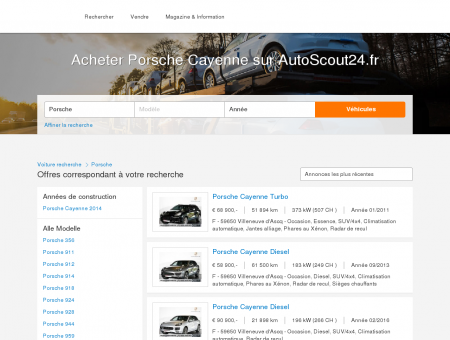 Acheter Porsche Cayenne sur AutoScout24.fr