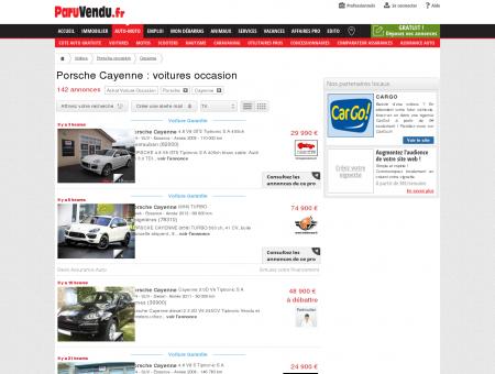 Porsche Cayenne occasion : annonces voitures,...