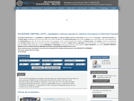 Auvergne Central Auto: Vente de voitures...