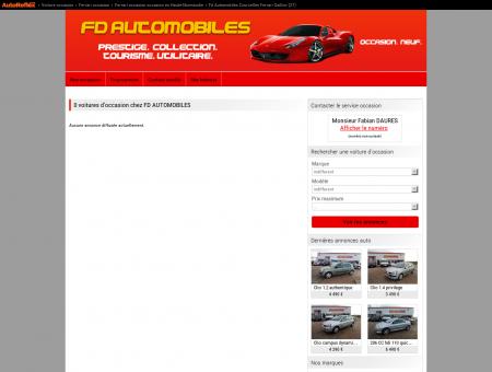FD AUTOMOBILES COURCELLES FERRARI...