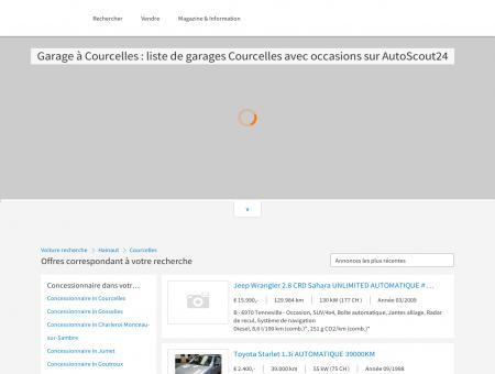 Garage à Courcelles : liste de garages...