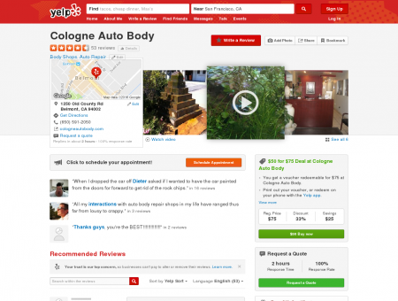 Cologne Auto Body - Body Shops - Belmont, CA - Reviews ...