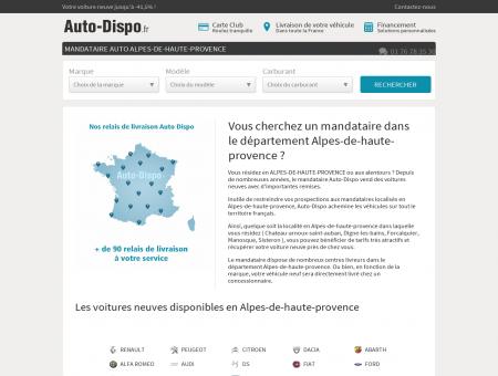 Mandataire auto Alpes-de-haute-provence