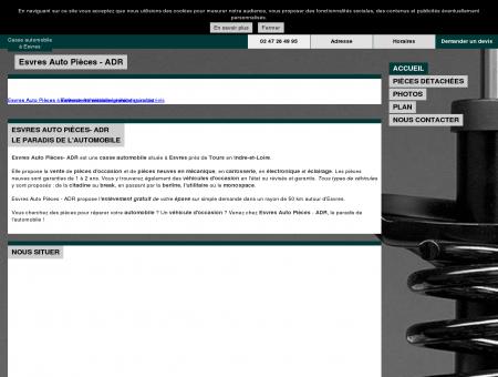 Esvres Auto Pièces - ADR - Casse à Esvres (37)