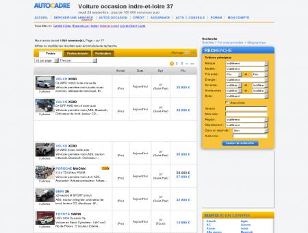 Indre-et-Loire 37 voiture occasion, plus de...