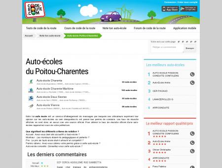 Auto ecole POITOU-CHARENTES - Toutes les...