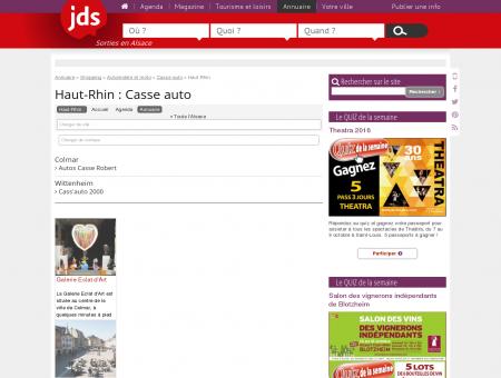 Haut-Rhin - L'annuaire Casse auto : pièces...