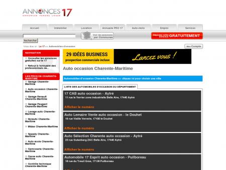 Auto occasion Charente-Maritime - Le 17 #...