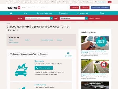Casse automobile Tarn et Garonne 82 - Guide...