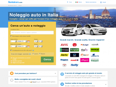 Autonoleggio Italia | Rentalcars.com