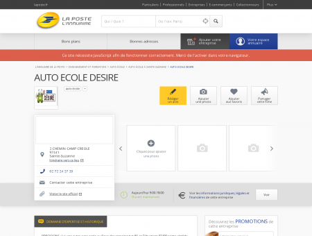 AUTO ECOLE DESIRE - Auto école à Sainte...