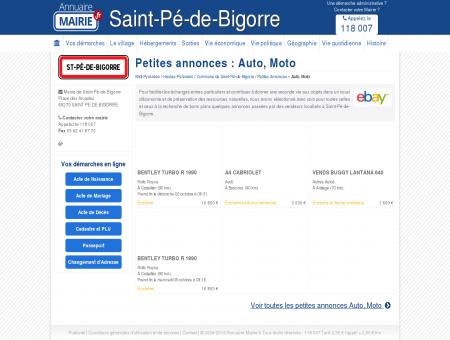 Petite Annonce Auto, Moto à Saint-Pé-de...