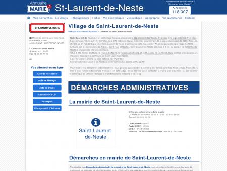 Mairie de Saint-Laurent-de-Neste, la...