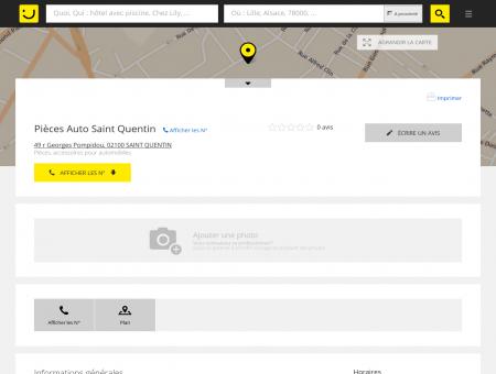 Pièces Auto Saint Quentin Saint Quentin...