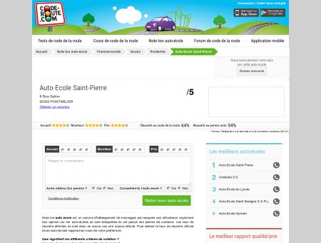 Auto-Ecole Saint-Pierre (PONTARLIER 25300)...