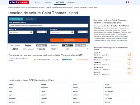 Location de voiture Saint Thomas Island, STT à...