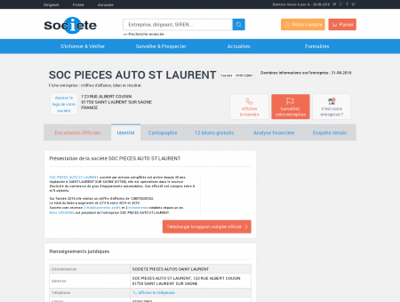 SOC PIECES AUTO ST LAURENT (SAINT...