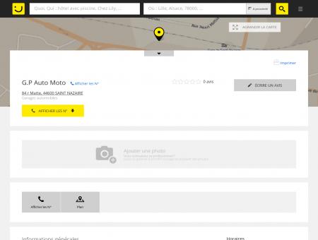 G.P Auto Moto Saint Nazaire (adresse, horaires)