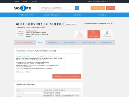 AUTO SERVICES ST SULPICE (SAINT-SULPICE...