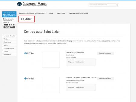 Centres auto à Saint Lizier (09190), plans...