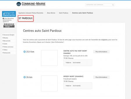 Centres auto à Saint Pardoux (79310), plans...