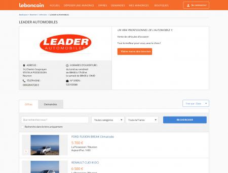 Boutique LEADER AUTOMOBILES Véhicules...