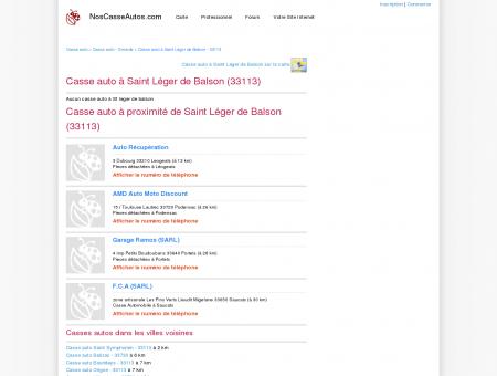 Casse auto Saint Léger de Balson - 33113 -...