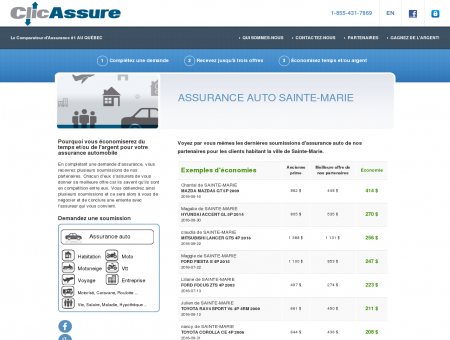 Assurance auto Sainte-Marie | Assurance auto...